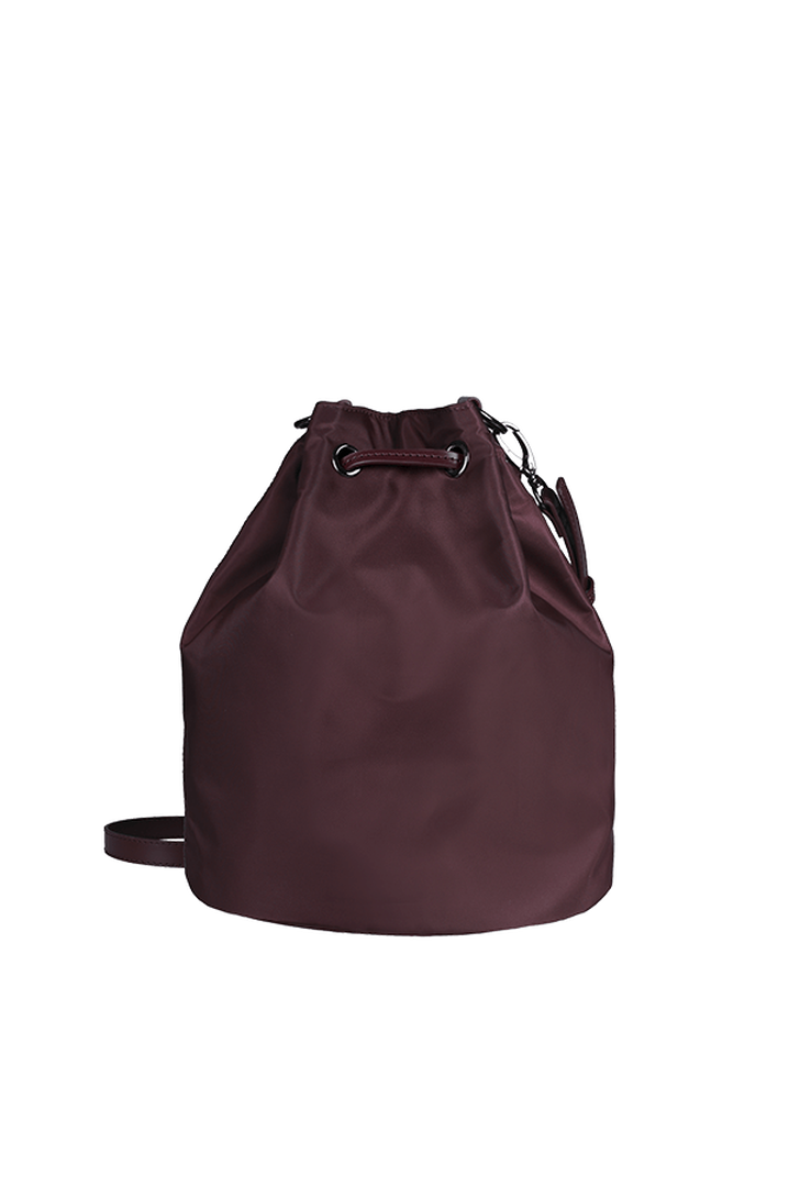 Lady Plume Bolso Bucket S Wine Red   3