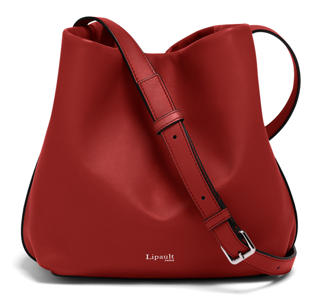 By The Seine Bolso Bucket Cherry Red