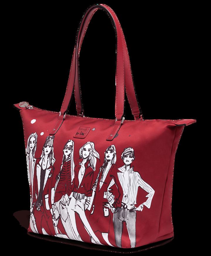Izak Zenou Collab Bolso shopping M Pose/Garnet Red | 3