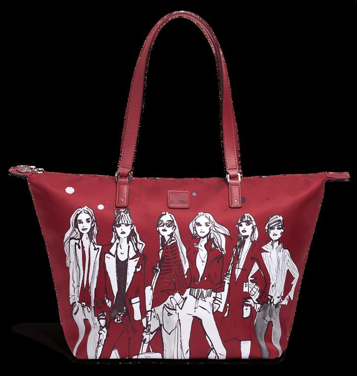 Izak Zenou Collab Bolso shopping M Pose/Garnet Red | 1