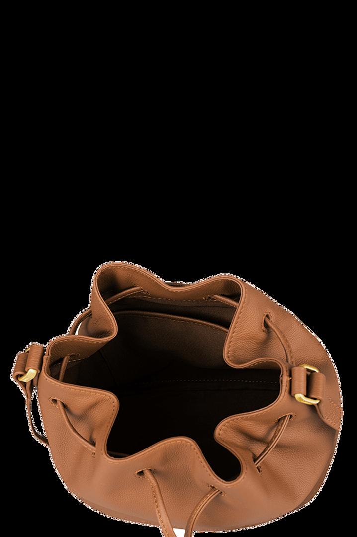 Plume Elegance Bolso Bucket Cognac   2