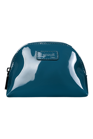 Lipault Plume Vinyle Cosmetic Pouch M  Turquesa